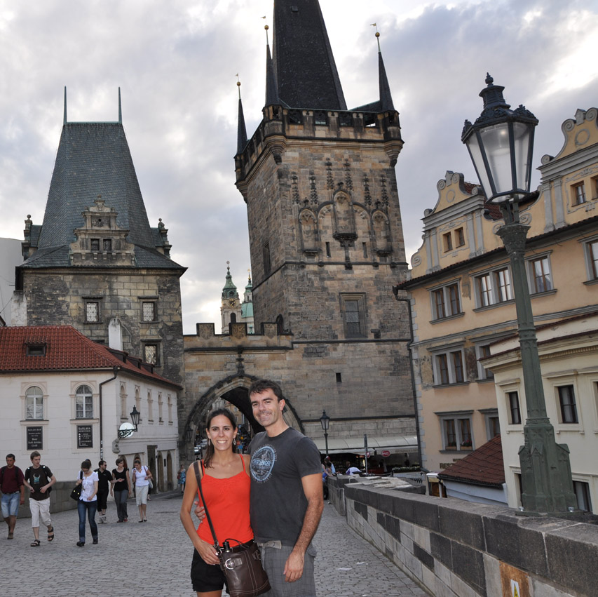 Sheede Khalil and Paolo Ciccarese in Prague