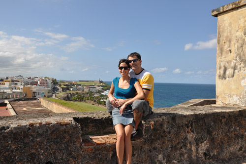 Sheede and Paolo in San Juan