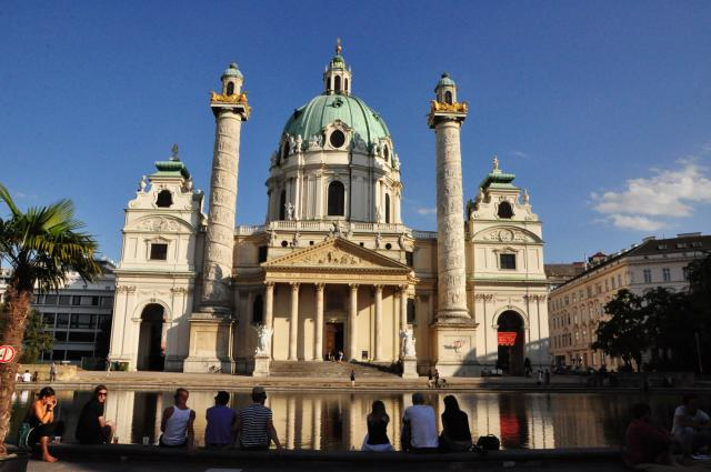 Karlskirche, Vienna by Paolo Ciccarese