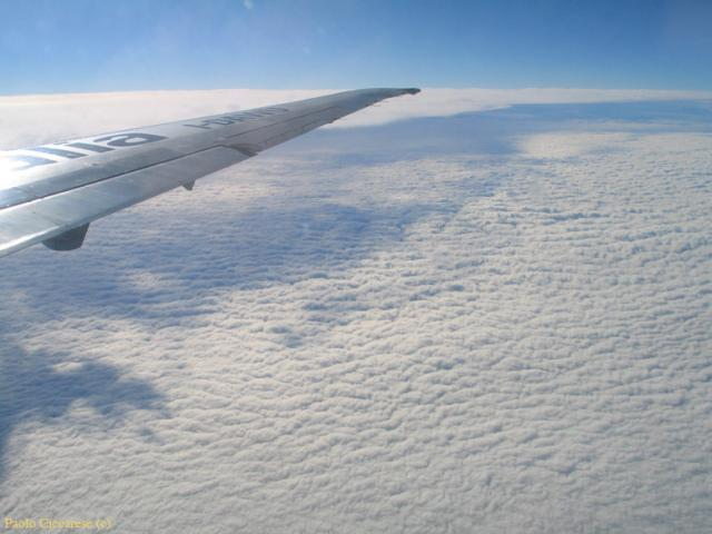 Flying on puffy clouds