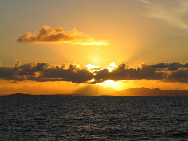 Sunset on the boat from Culebra to Fajardo (by Paolo Ciccarese)