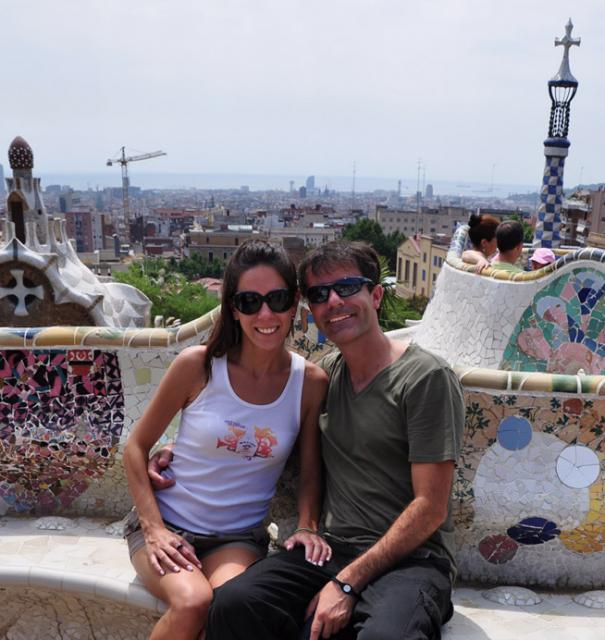 Sheede and Paolo at Park Guell