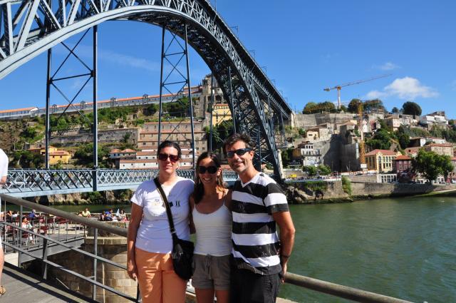Evita, Sheede and Paolo in Porto